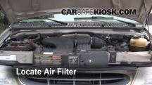 2001 Ford E-150 Econoline Club Wagon XLT 5.4L V8 Filtro de aire (motor)
