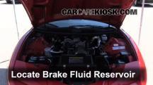 2001 Pontiac Firebird 3.8L V6 Convertible Brake Fluid