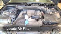 2002 BMW 325i 2.5L 6 Cyl. Sedan Filtro de aire (motor)