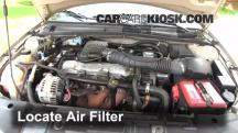 2002 Chevrolet Cavalier 2.2L 4 Cyl. Sedan (4 Door) Air Filter (Engine)