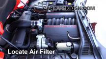 2002 Chevrolet Corvette 5.7L V8 Convertible Filtro de aire (motor)