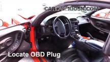 2002 Chevrolet Corvette 5.7L V8 Convertible Compruebe la luz del motor