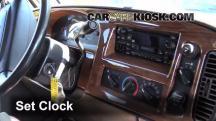 2002 Dodge Ram 1500 Van 5.2L V8 Standard Passenger Van Clock