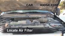 2002 Ford F-250 Super Duty Lariat 7.3L V8 Turbo Diesel Extended Cab Pickup (4 Door) Filtro de aire (motor)