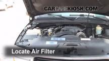 2002 GMC Yukon XL 2500 SLT 8.1L V8 Filtro de aire (motor)