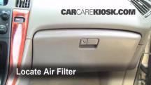 2002 Lexus RX300 3.0L V6 Filtro de aire (interior)