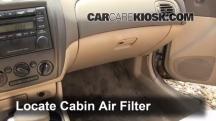 2002 Mazda Protege ES 2.0L 4 Cyl. Filtro de aire (interior)