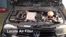 2002 Volkswagen Cabrio GLX 2.0L 4 Cyl. Filtro de aire (interior)