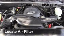 2003 Chevrolet Tahoe LS 5.3L V8 Air Filter (Engine)