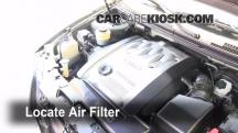 2003 Kia Sedona EX 3.5L V6 Filtro de aire (motor)