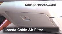 2003 Toyota Camry XLE 3.0L V6 Filtro de aire (interior)