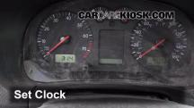 2003 Volkswagen Golf GL 2.0L 4 Cyl. (4 Door) Clock
