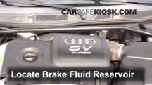 2004 Audi TT Quattro 1.8L 4 Cyl. Turbo Convertible Brake Fluid