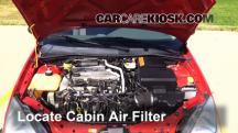 2004 Ford Focus ZTS 2.3L 4 Cyl. Filtro de aire (interior)
