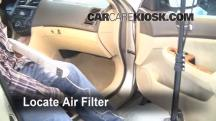 2004 Honda Accord EX 2.4L 4 Cyl. Sedan (4 Door) Filtro de aire (interior)