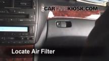 2004 Lexus LS430 4.3L V8 Filtro de aire (interior)
