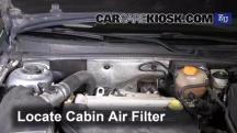 2004 Opel Signum Sport 2.0L 4 Cyl. Turbo Filtro de aire (interior)