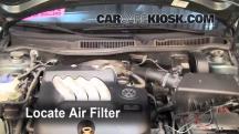 2004 Volkswagen Jetta GL 2.0L 4 Cyl. Sedan Filtro de aire (interior)