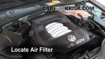2004 Volkswagen Passat GLX 2.8L V6 Wagon Filtro de aire (interior)