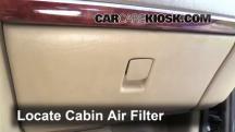 2005 Buick Terraza CX 3.5L V6 Filtro de aire (interior)