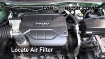 2005 Chevrolet Equinox LS 3.4L V6 Filtro de aire (motor)