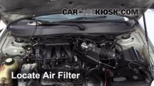 2005 Mercury Sable GS 3.0L V6 Sedan Filtro de aire (motor)