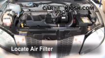 2005 Pontiac Sunfire 2.2L 4 Cyl. Filtro de aire (motor)