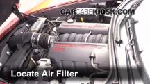 2006 Chevrolet Corvette 6.0L V8 Convertible Air Filter (Engine)