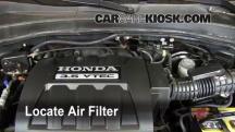2006 Honda Pilot EX 3.5L V6 Filtro de aire (motor)