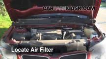 2006 Pontiac Torrent 3.4L V6 Filtro de aire (motor)
