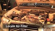 2006 Subaru Forester X 2.5L 4 Cyl. Filtro de aire (motor)