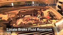 2006 Subaru Forester X 2.5L 4 Cyl. Brake Fluid
