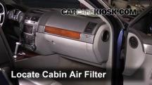 2006 Volkswagen Touareg 4.2L V8 Filtro de aire (interior)