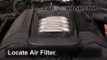 2006 Volkswagen Touareg 4.2L V8 Filtro de aire (motor)