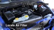 2007 Dodge Ram 1500 Laramie 5.7L V8 Extended Crew Cab Pickup Filtro de aire (motor)