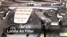 2007 Hyundai Azera SE 3.8L V6 Air Filter (Engine)