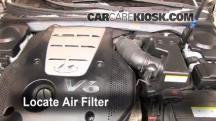 2007 Hyundai Azera SE 3.8L V6 Filtro de aire (motor)