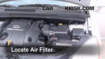 2007 Kia Rondo LX 2.7L V6 Filtro de aire (motor)