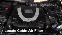 2007 Mercedes-Benz CLK550 5.5L V8 Convertible (2 Door) Filtro de aire (interior)