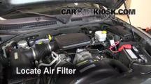 2007 Mitsubishi Raider LS 3.7L V6 Extended Cab Pickup Filtro de aire (motor)