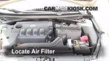 2007 Nissan Altima S 2.5L 4 Cyl. Filtro de aire (motor)