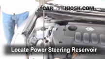 2007 Nissan Altima S 2.5L 4 Cyl. Power Steering Fluid