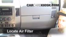 2007 Nissan Titan SE 5.6L V8 Crew Cab Pickup Filtro de aire (interior)