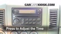 2007 Nissan Titan SE 5.6L V8 Crew Cab Pickup Clock