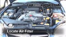 2007 Subaru Legacy 2.5i Special Edition 2.5L 4 Cyl. Sedan Filtro de aire (motor)
