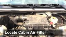 2008 Dodge Sprinter 2500 3.0L V6 Turbo Diesel Standard Passenger Van Filtro de aire (interior)