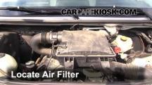 2008 Dodge Sprinter 2500 3.0L V6 Turbo Diesel Standard Passenger Van Filtro de aire (motor)