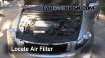 2008 Honda Accord EX-L 3.5L V6 Sedan (4 Door) Filtro de aire (motor)
