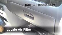2008 Honda Ridgeline RTL 3.5L V6 Filtro de aire (interior)