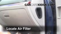 2008 Hyundai Veracruz GLS 3.8L V6 Filtro de aire (interior)